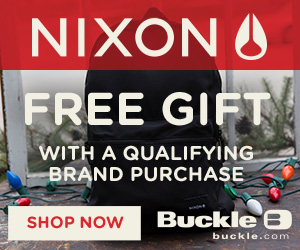 Get a FREE Nixon Everyday Backpack with a $100 regular priced Nixon purchase.  While Supplies Last.