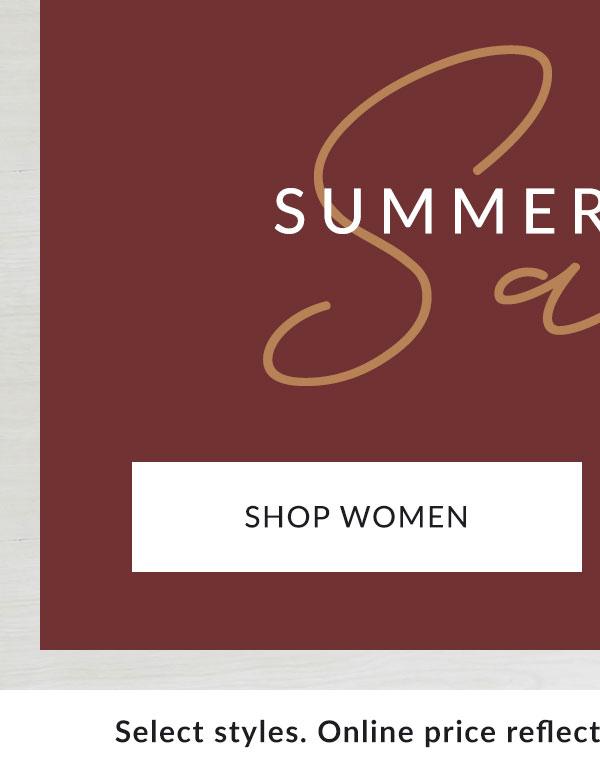 Shop Women's Summer Sale