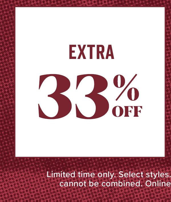Shop Extra 33% Off