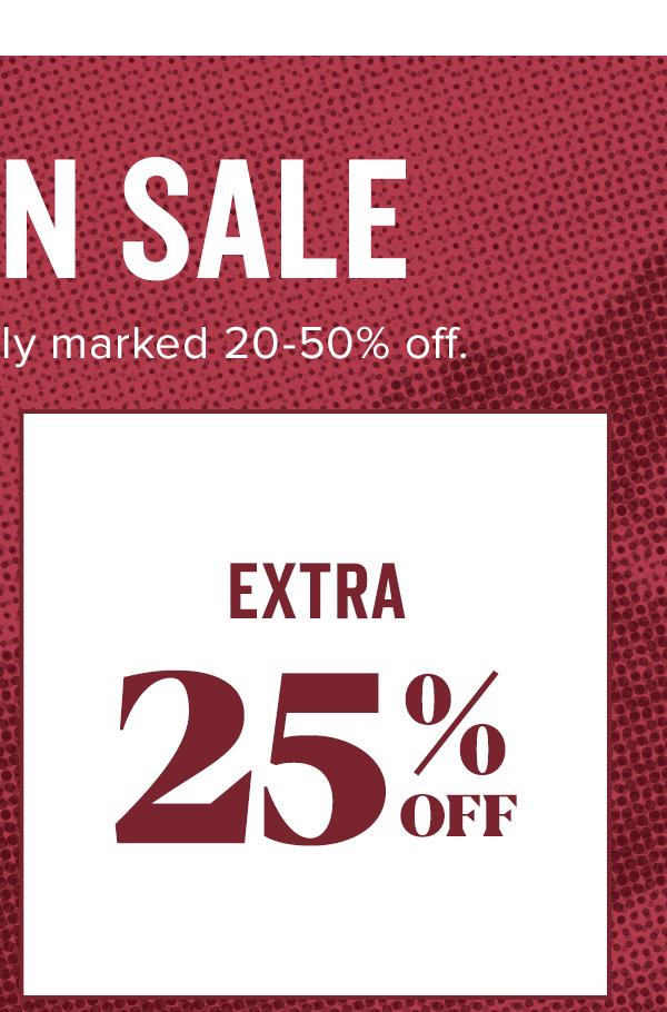 Shop Extra 25% Off