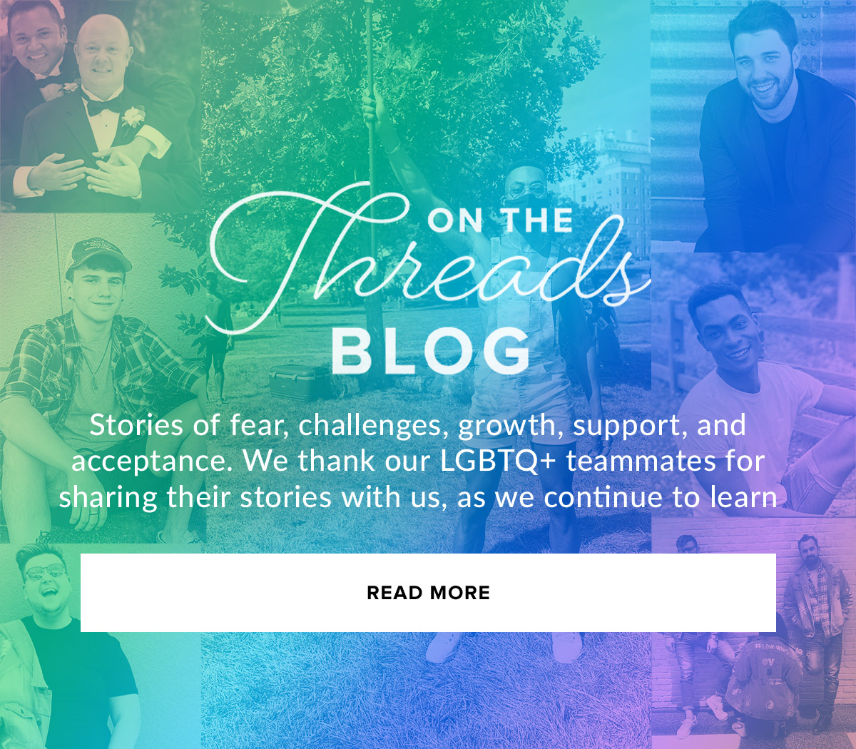 On The Blog - LGBTQ+ Stories - Read More